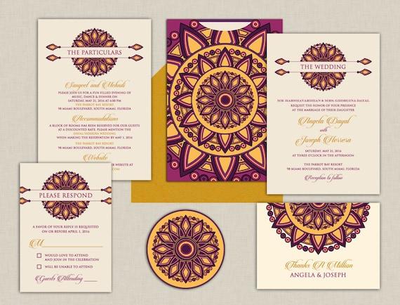Hindu Wedding Invitations Usa: The Ruba Collection Indian Wedding Invitations A Colorful