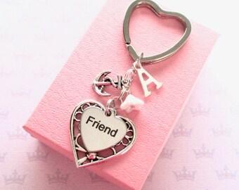 Personalised anchor keychain for friend - Friend keyring - Anchor keyring - Navy gift - Anchor keychain - Friend Birthday - Etsy UK