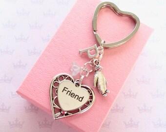 Penguin keyring - Friendship keychain - Penguin keychain - Birthday gift for friend - Penguin gift - Friendship keyring - Stocking filler
