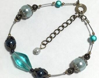 Blue and Silver Bracelet