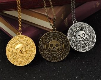 Pirates of the Caribbean Aztec Coin Necklace