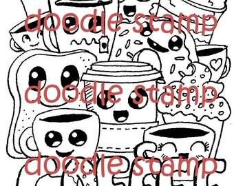 Coffee Time - Digital Doodle Stamp