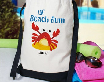 Personalized Beach Bum Backpack