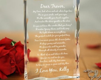 Personalized Romantic Acrylic Keepsake Block