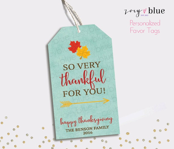 Thankful Thank You Tag- Fall