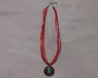 Peace Sign Charm Choker Necklace