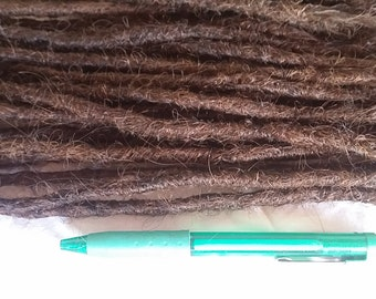 10 x DREADS Crocheted crochet human hair dreadlocks