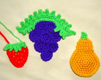Amigurumi Grapes Pattern : Dog applique pattern set with bone, dog biscuit and paw ...