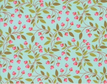 Moda Wing & Leaf by Gina Martin Wing Leaf Robins Egg 10065 14 - Quilt, Quilting, Clothing, Crafts
