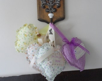 Cottage Chic Fabric Hearts