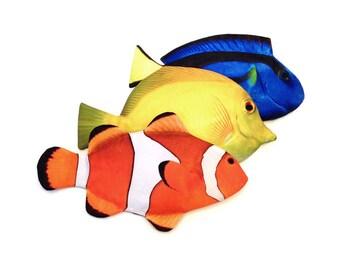 Tropical Fish Pen Pouch - fish pouch, pen, pencil case, zipper