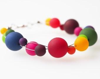 rainbow bracelet polaris colorful bracelet polaris pearls