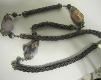 Rare Vintage Miriam Hashell necklace.Free shipping in the USA.