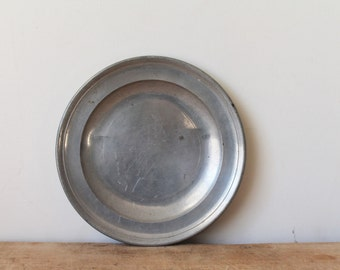 Thomas and Townsend Compton Antique Pewter Plate - 18th / 19th Century - English - Made in London - Double Touch Marks - Hallmarked