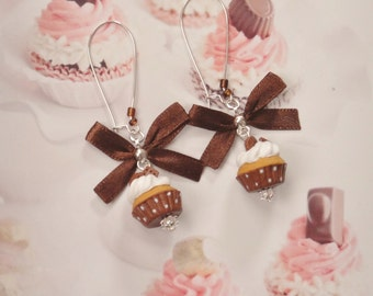 earrings chocolate cupcakes