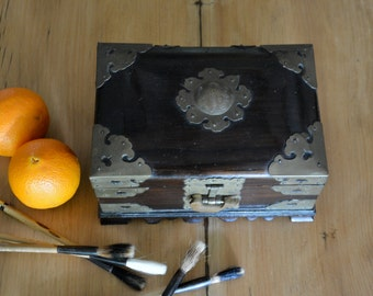 Asian Box, Cedar Box, Decorative Wood Box, Jewelry Box, Treasure Chest
