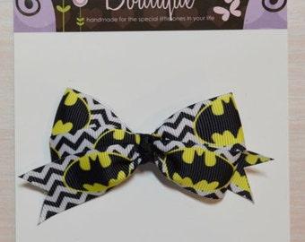 Boutique Style Hair Bow - Batman