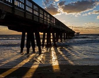 Pompano Beach Fishing Pier, Pompano FL, Pompano Beach, FIshing Pier, Pier photography, Pier Decor, Pier Art, Pier Print, Sunrise Photography