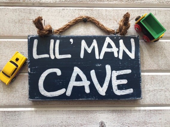 Man Cave Gifts For Christmas : Man cave sign lil little boy gifts for