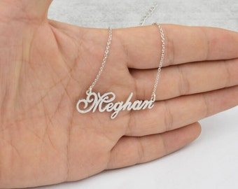 925 silver name necklace-custom name jewlery,Personalized gift for girls,you can order any name