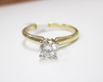 Timeless Simple Elegant Solitaire 1/2 Carat Engagement Ring