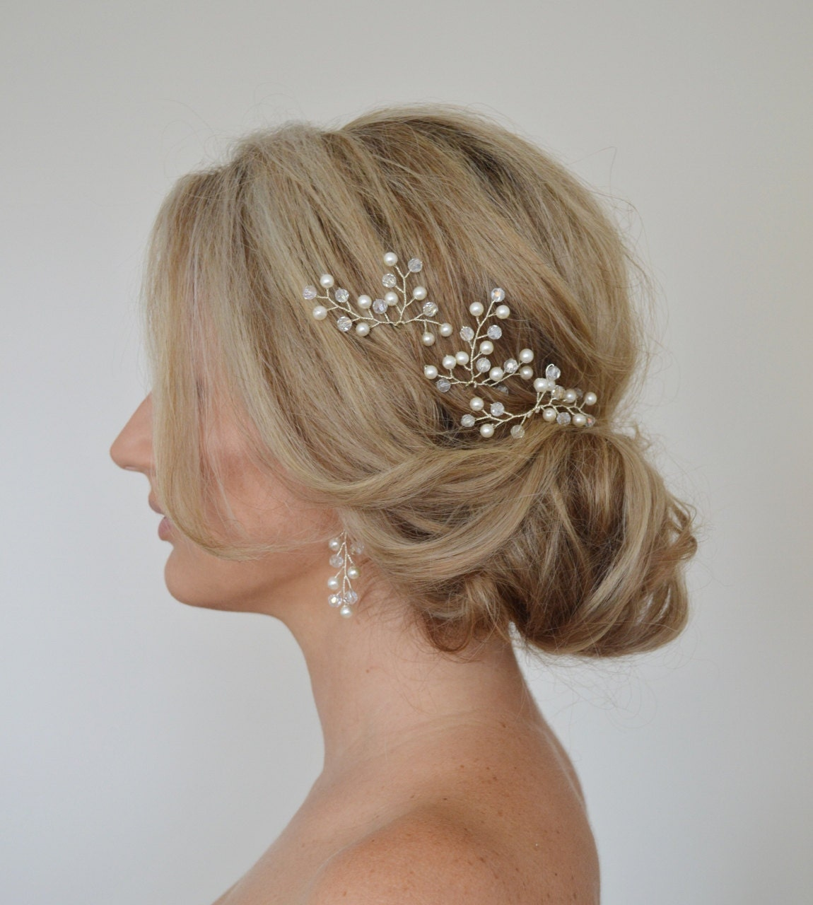 Bridal Hair With Pins : Wedding hair bridal accessories clips