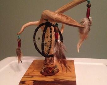 Sale! Hanging deer antler dream catcher