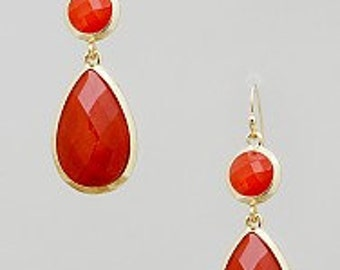 Classy Red Teardrop Earrings