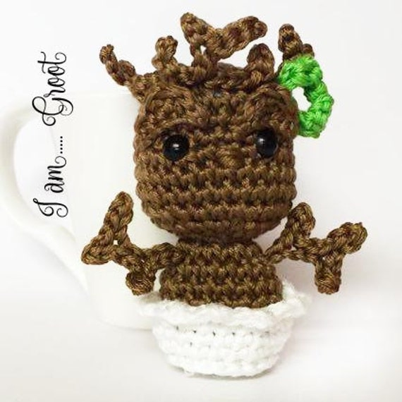 Groot amigurumi keychain doll from Guardian of the