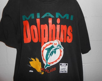 Vintage 90s Miami Dolphins No Flags T Shirt XL XXL