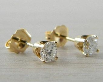 ON SALE Diamond 0.67 tcw. Butterfly Back Eye Clean Stud Earrings AN-D98