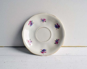 Vintage Favolina China Made in England Floral Design Saucer