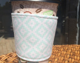 Coffee cozy, coffee sleeve, reversible and eco-friendly