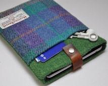 """HARRIS TWEED 7""""/10"""" iPad mini /Kindle Fire/Kindle Fire HDX /Galaxy /Nexus/iPad/iPad Air case - Bespoke"""
