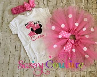 Im Twodles Minnie Mouse 2nd birthday tutu outfit, Minnie Mouse themed birthday for girl, Minnie Mouse 2nd birthday shirt and tutu outfit