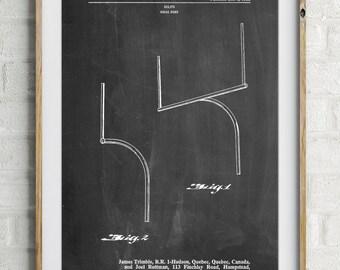 Football Goal Post Patent Print, Football Decor, Vintage Football, Sports Decor, PP0825