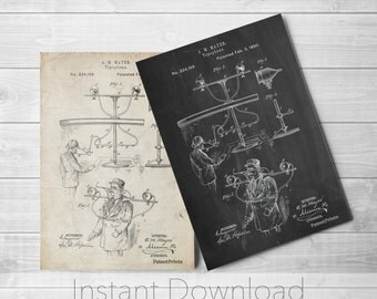 Topophone Printables, Science Poster, Technology Art, Unique Wall Art, PP0642