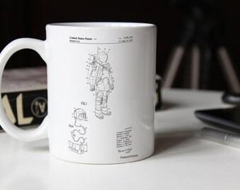 Apollo Space Suit Patent Mug, Outer Space, NASA Mug, Space Mug PP0309
