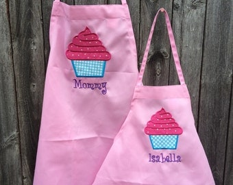 Mommy and Me Apron Set, Mother Daughter Aprons, Mother Daughter Apron, mother daughter, mothers day, mother, daugther, Mommy and Me, apron