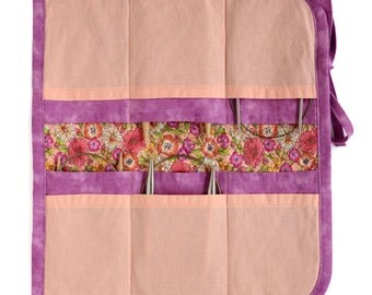 Circular Knitting Needle Case 2016 edition - Peach and pink