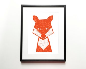 Fox print – Animal Illustration, Animal Print, Kids room art, Nursery room Art, Baby nursery decor, Wall art, Home decor
