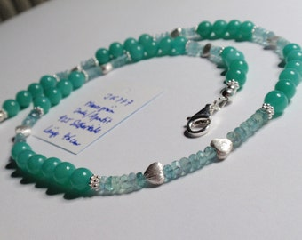 Mint green Jade/Apatit Necklace(JK 777)