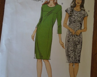 Vogue V8786, sizes 6-14, misses, womens, dress, UNCUT sewing pattern, craft supplies