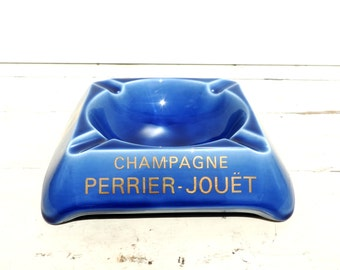 French Vintage Perrier Jouet Champagne Ashtray/Vintage Perrier Jouet Ashtray/Vintage Ashtray/Perrier Jouet Champagne Ashtray/Tobacciana