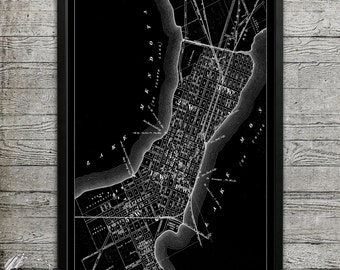 Map of Madison WI Print, Wall Decor for your Home or Office