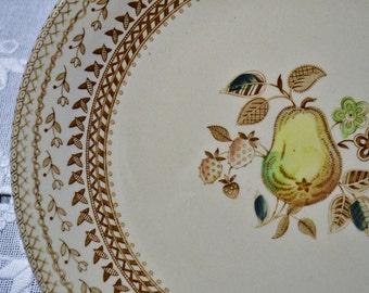 Vintage Johnson Bros Fruit Sampler Dinner Plate Set of 4 Old Granite England Replacement PanchosPorch