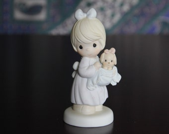 """Precious Moments by Enesco """"You Can Always Bring a Friend"""" Special 1991 Limited Edition Porcelain Figurine"""