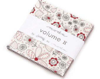 """Volume II  Charm Pack by Sweetwater for Moda, 42 - 5"""" squares"""