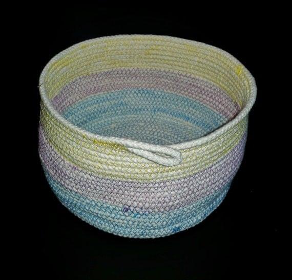 on sale pastel cotton rope basket pastel basket teacher. Black Bedroom Furniture Sets. Home Design Ideas