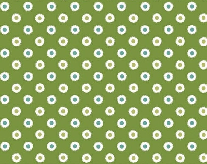 Half Yard Hazel - Dot in Green - Cotton Quilt Dots Fabric - Allison Harris of Cluck Cluck Sew for Windham Fabrics - 40841-8 (W3420)